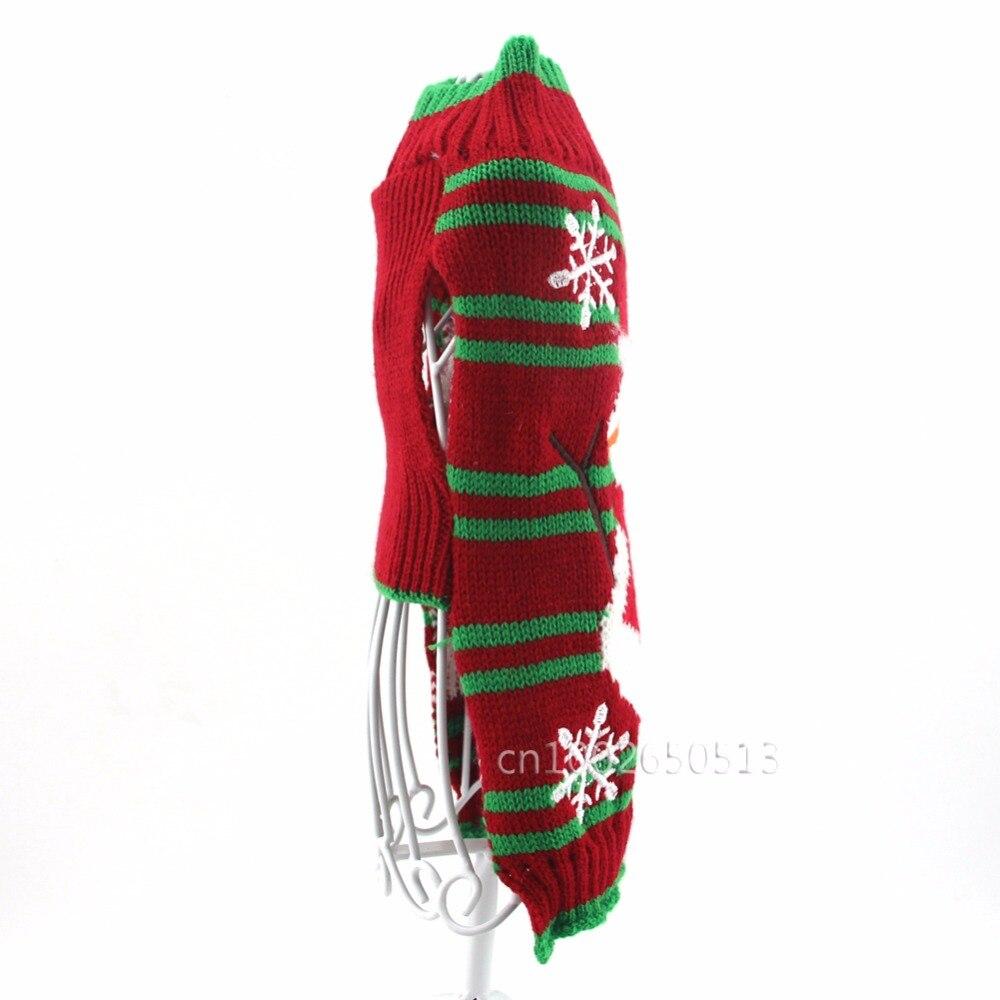 Navidad mascota perro suéter rayas invierno ropa para perros ...
