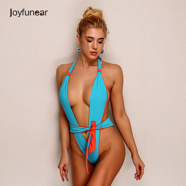 5b57fba9ec48 Joyfunear 2018 Fashion Bodycon Sexy Women Bodysuit Summer Backless Halter  Jumpsuit Bandage Both Sides Overalls Solid