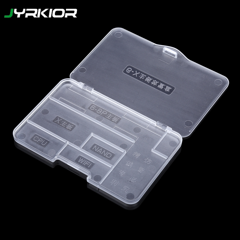 Jyrkior JC Plastic Mobile Phone Motherboard Storage Protection Box Anti Break Protection Logic Board Chip For IPhone 6SP7/7P/8/X