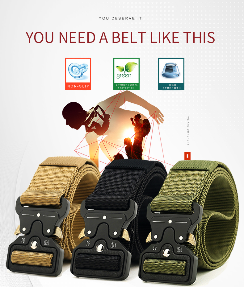 HTB1a2xQXlv0gK0jSZKbq6zK2FXau - NO.ONEPAUL Men's Military Classic Tactical Belt High Elastic Metal Hook Outdoor Training High Quality New Nylon Soldier Belts