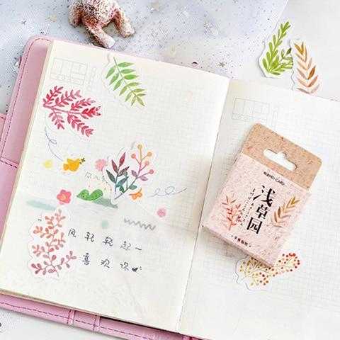 20 pacotes lote kawaii planta serie adesivos