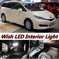 6 X Error Free Car LED Bright Vehicle Interior Map Dome Door Lights Kit Package for toyota Wish accessories 2004-2015