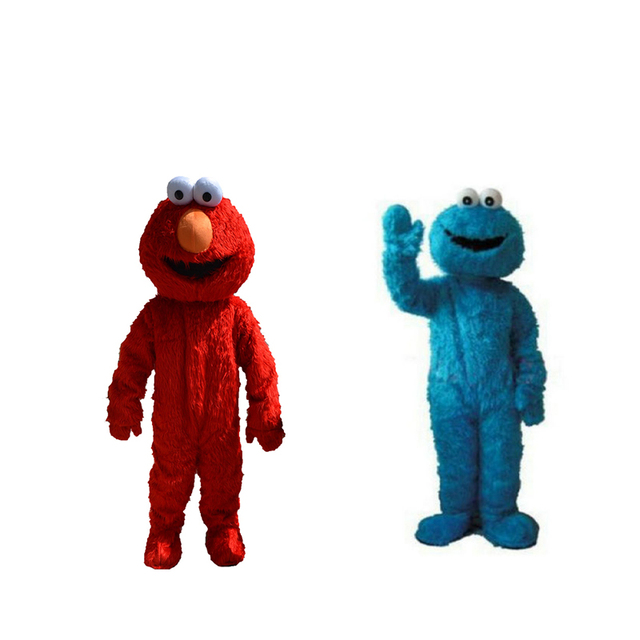 Due pc!! sesame street red elmo blu cookie monster costume della
