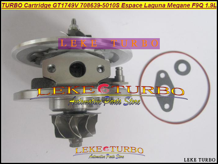 TURBO Cartridge CHRA Core GT1749V 708639-5010S 708639 Turbocharger For Renault Espace Laguna Megane For VOLVO S40 V40  F9Q 1.9L