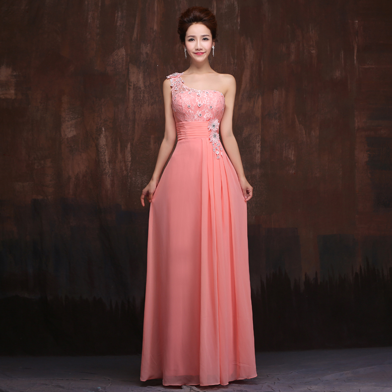 Pink Matron Of Honor Dress - Short Hair Fashions