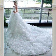 kejiadian 2019 Elegant Wedding Dresses with Long Train