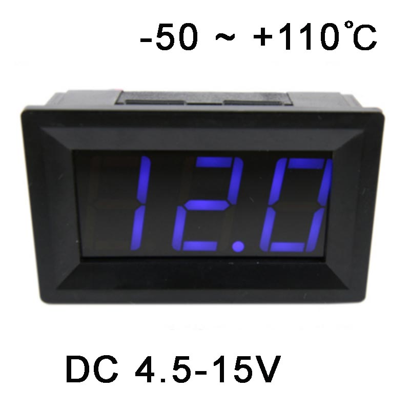 -50-110 Celsius degree digital thermometer input power DC4.5-15V
