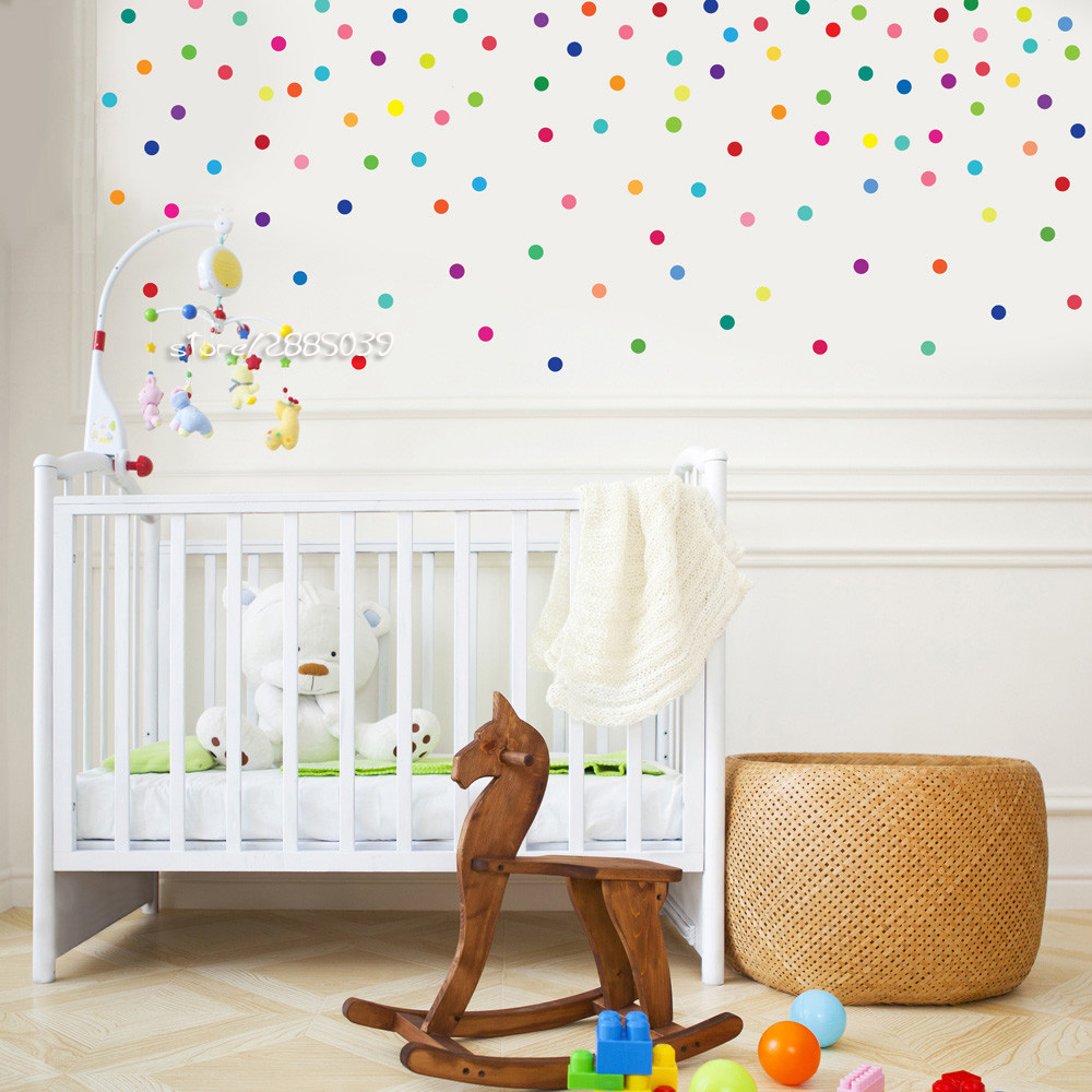 dhl free ship polka dot wall sticker removable wall decal eco friendly dot wall stickers for. Black Bedroom Furniture Sets. Home Design Ideas