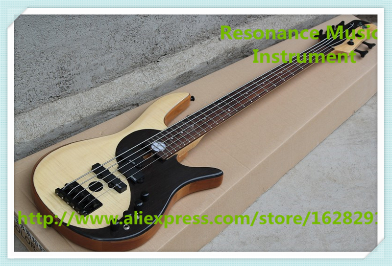 Chinese 5 String Fodera Yin Yang Standard Electric Bass Guitars Left Handed Custom Available стоимость