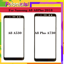 10pcs For Samsung Galaxy A8 2018 A530 A530F SM-A530F A530N A8+ Plus A730F A730 Touch Screen Front Panel Glass Lens Front Outer защитная плёнка для samsung galaxy a8 2018 sm a530f на весь экран tpu прозрачная luxcase