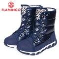 FLAMINGO alta calidad de la manera del invierno de los niños para la muchacha de 2015 nueva colección antideslizante botas de nieve impermeables 52-NC419