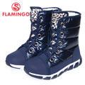 FLAMINGO high quality fashion winter children's shoes for girl 2015 new collection anti-slip waterproof snow boots 52-NC419