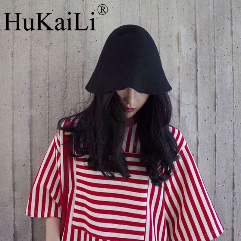 Wool Black White Red Pink Wine Hat Felt Cloche Hat For Women From HuKaiLi