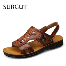 SURGUT Brand Summer Beach Shoes Men Trend Comfortable Casual Non-Slip