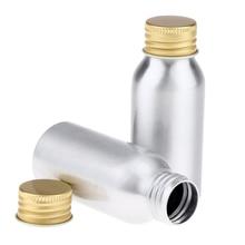 Set of 4 Pieces Aluminum Empty Lotion Bottles 50ML 100ML Multi Size Bottle Liquids Cream Jar Dispenser Bottles Containers