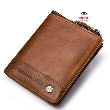 Роскошный кошелек из 100% натуральной кожи с карманом для монет