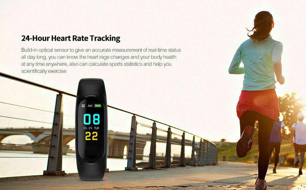Mais novo m3 mais moda relógio inteligente banda de pulso esporte rastreador pressão arterial sono pulseira de coração unisex relógios de pulso dropship