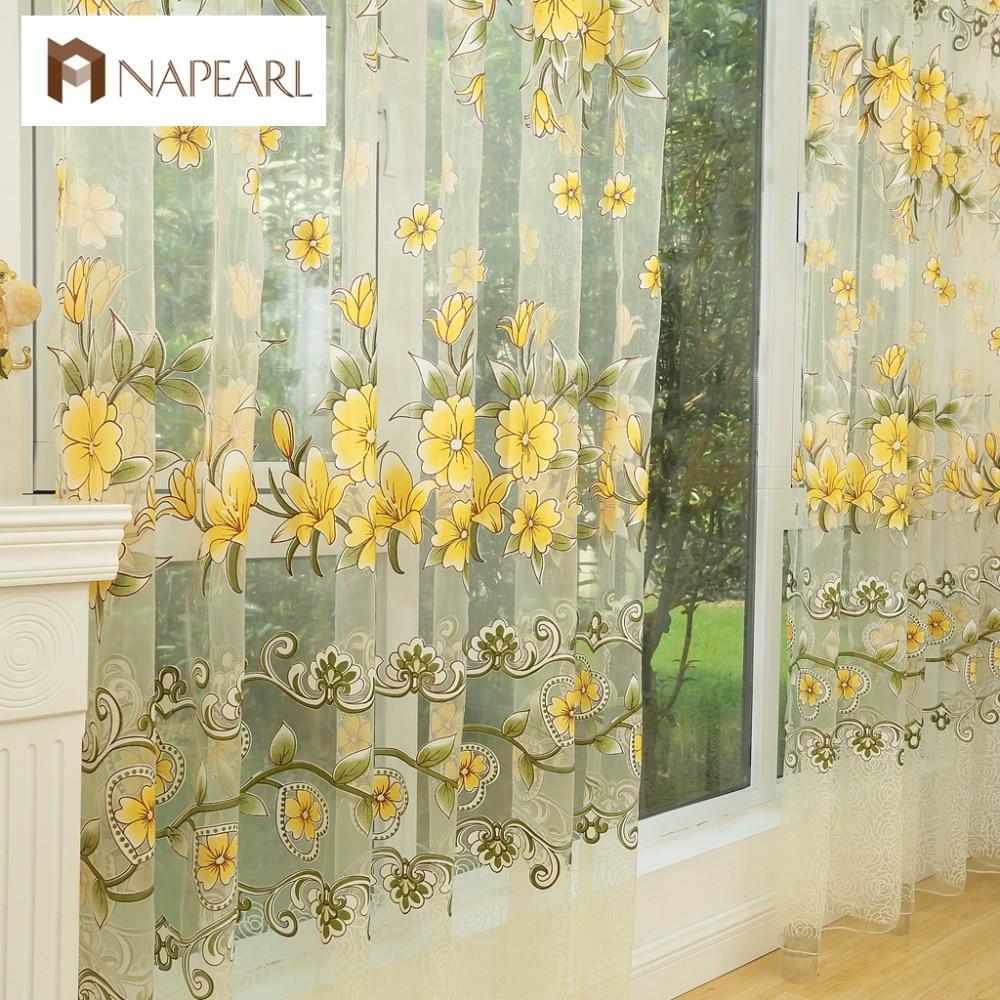 NAPEARL Fashion design modern transparent tulle curtains window ...