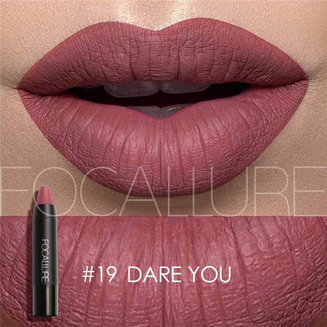FOCALLURE mate pintalabios maquillaje belleza Sexy impermeable lápiz labial impermeable de larga duración fácil de usar maquillaje cosmético de labios
