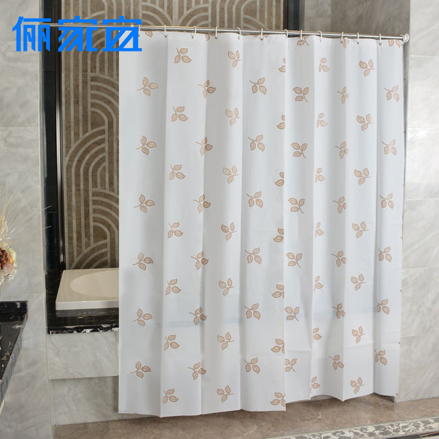 High Quality Gold Leaf PEVA Eco Friendly Shower Curtains Waterproof Polyester Bathroom Accessories Curtain