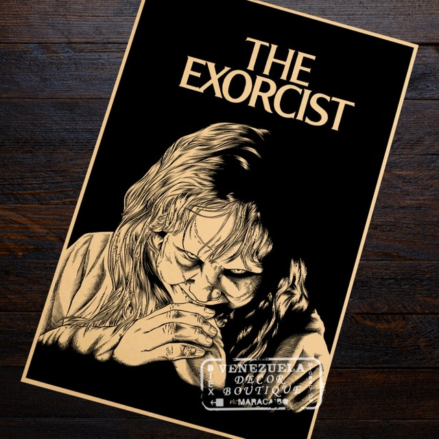 the Exorcist Propaganda Retro Vintage Kraft Poster Decorative DIY Wall Sticker Home Bar Posters Decoration