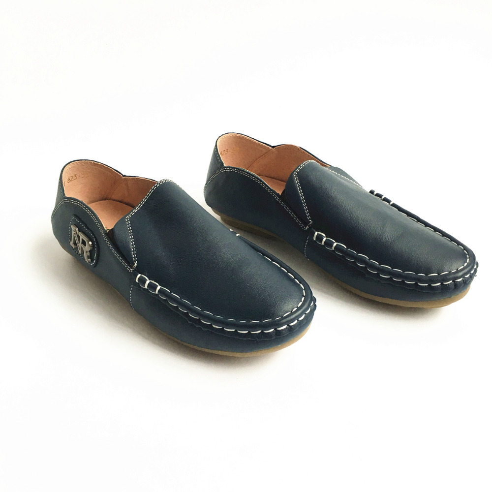 Genuine Leather Boys leather shoes Fashion Children s moccasin gommino Shoes Boys school Shoes non slip