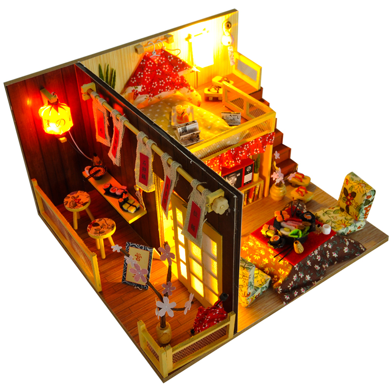 Cutebee Doll House Furniture Miniature Dollhouse DIY Miniature House Room Box Theatre Toys For Children DIY Dollhouse TD12
