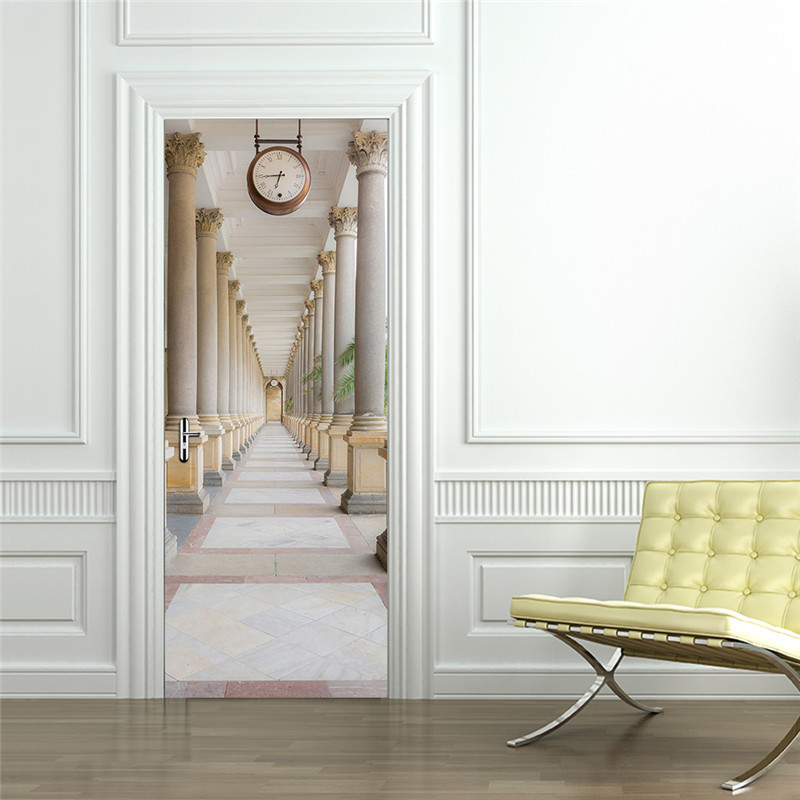 Image 4 - Continental Classic Building Corridor Balcony Staircase Wall Stickers Company Decorations Window Door Stickers Drop Shipping-in Wall Stickers from Home & Garden