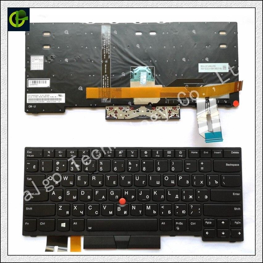 Clavier rétro-éclairé russe pour Lenovo Thinkpad E480 T480S L480 L380 ordinateur portable yoga 01YP360 01YP520 RU ordinateur portable noir