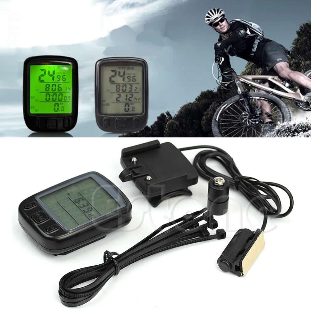 Waterproof Cycle font b Bicycle b font Bike LCD font b Computer b font Speedometer Odometer