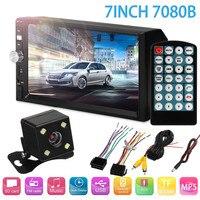 7inch 2 Din Car Video Player 7080B Bluetooth AUX/USB/FM Remote Control Screen HD Car MP5 Player with Rear View Camera
