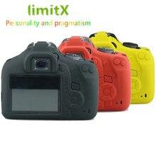 LimitX силиконовая кожа брони чехол корпус протектор для Canon EOS 1300D 1500D Rebel T6 Kiss X80 цифровая камера