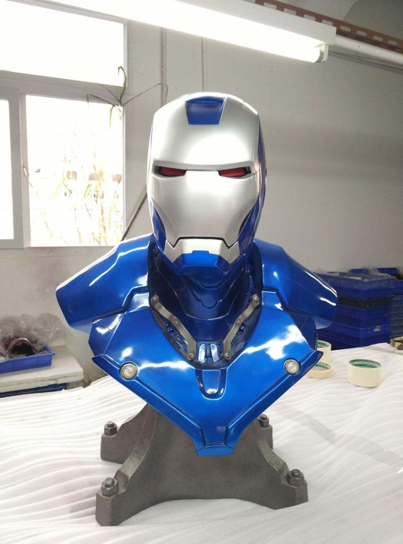 Синий Железный человек Mk3 Mark3 Lifte Размеры 1/1 бюст статуя масштаб Тони Strak переделать фигурку Коллекционная Boyfrien подарок на день рождения