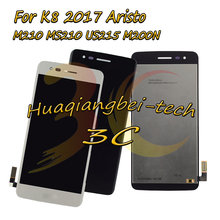 New 5.0'' For LG K8 2017 Aristo M210 MS210 US215 M200N Full LCD DIsplay + Touch Screen Digitizer Assembly 100% Tested(China)