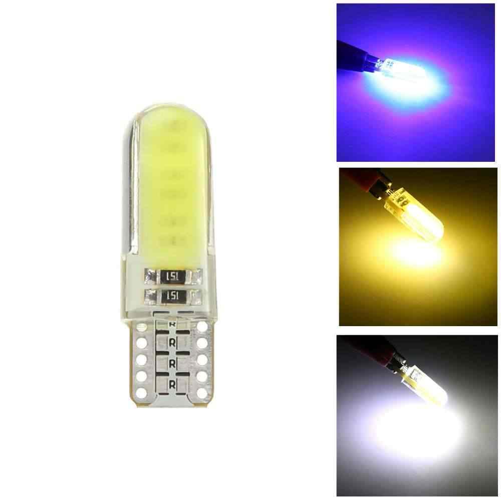 1 x Universal W5W T10 Bulb 194 COB light Bulbs Car Light 12SMD Silicone Lamp White Red Yellow Ice Blue Pink Cob Led 12V