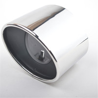 Chrome Stainless Steel Exhaust Tip Tail Pipe Muffler For Honda Accord