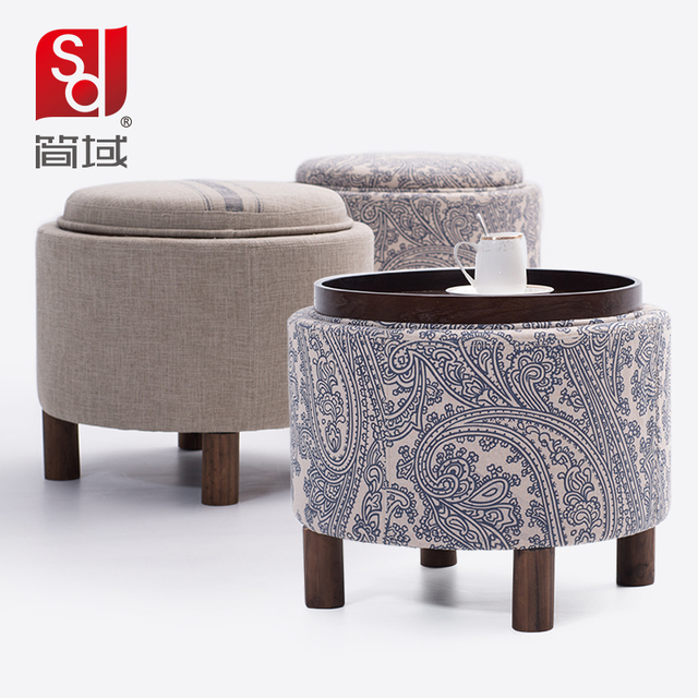 Jane domain wood coffee table storage stool stool changing his shoes