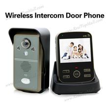 wireless Night Vision 2.4Ghz Video Door phone 1 outdoor unit+1 indoor monitor Free Shipping