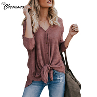 Women Casual Long Sleeve V Neck Thin T Shirt Top 2018 Spring New Open Stitch Cardigan