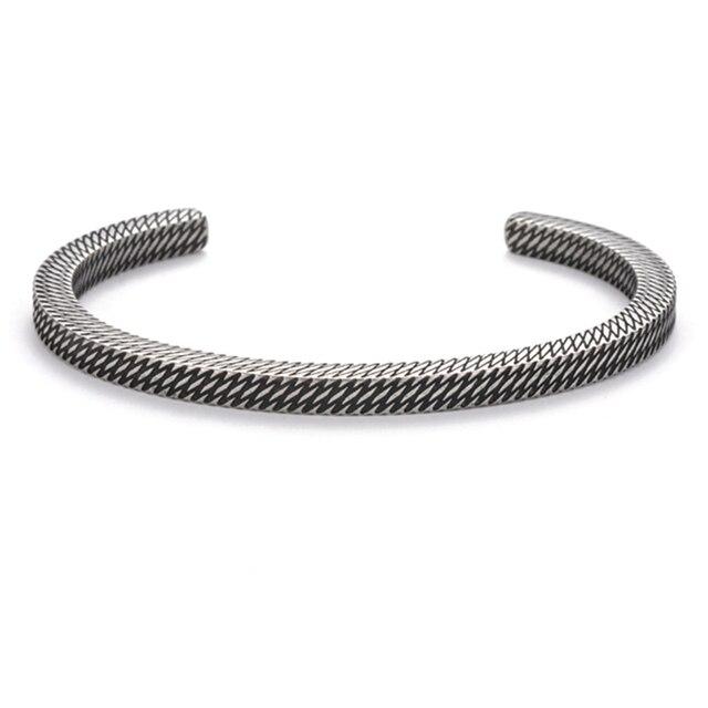 Bracelet Style rétro titane acier viking 19