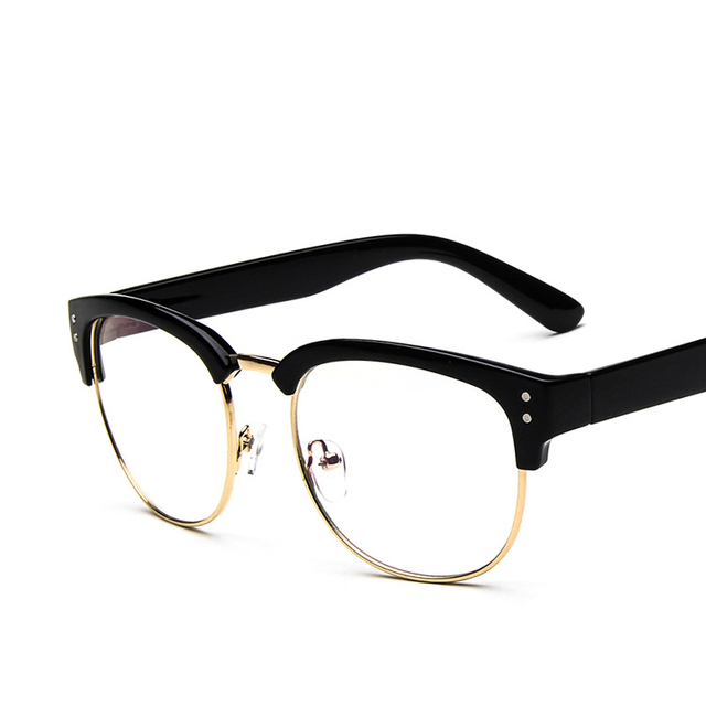 Hot Sale Vintage Metal Thick framed Glasses Frame Oculos De Grau ...