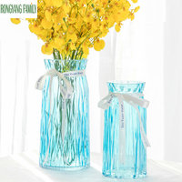 Classic modern Glass Vase Chinese Arts And Crafts Decor Living Room Contracted Flower Vase Creative Gift Household Decoration