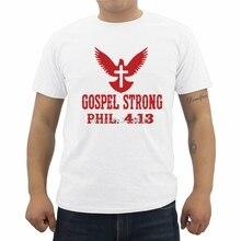 "Christian T-Shirt "" Gospel Strong"""