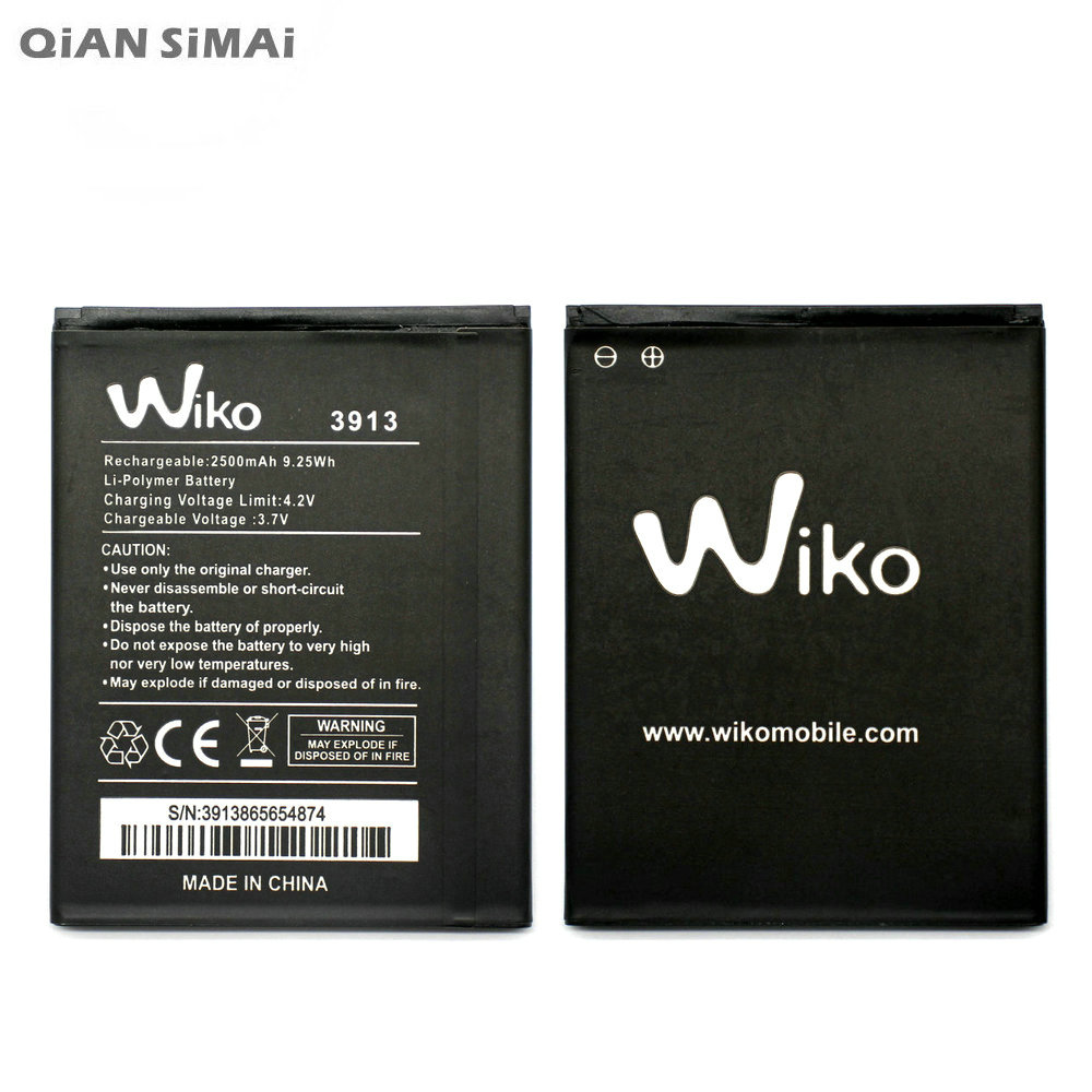QiAN SiMAi New 2500mAh Replacement Battery For WIKO 3913 LENNY4 LENNY 4 Mobile Phone