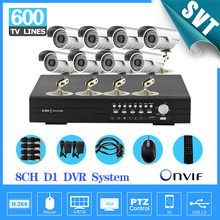 NVR Security 8ch CCTV System 600TVL Waterproof Outdoor Camera Network D1 Recorder Camera Video System DVR Kit SNV-10