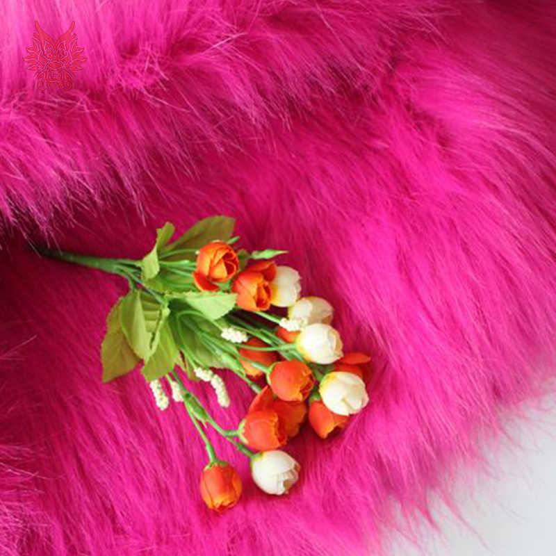 Cao cấp 7 cm tóc dài hoa hồng đỏ vải lông thú giả cho mùa đông áo khoác, vest, cosplay sân khấu trang trí nội thất miễn phí vận chuyển 150*50 cm 1 mảnh SP2576