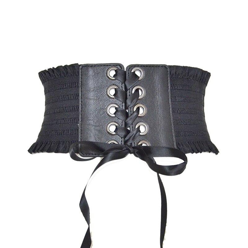 Fashion Ladies Belt Elastic Elastic Girdle Extra Wide Belts Dress Sculpting Decorative Girdle Twotwinstyle Corset Belt C52