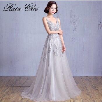 Evening Dresses 2020 Applique Floor-length Party Prom Gown Long Formal Evening Dress