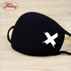 Унисекс зимняя теплая утолщенная маска для рта хлопковая теплая пыль респиратор модные черные маски для лица женские велосипедные