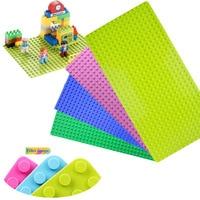 Minecrafted General Big Blocks Base Plate 32 16 Dots Compatible Legos Duplo City DIY Baseplate Building